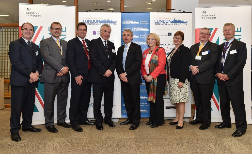 Robert Goodwill MP, Minister for Shipping & Ports, pictured here with members of the LISW 2015 Steering Group.