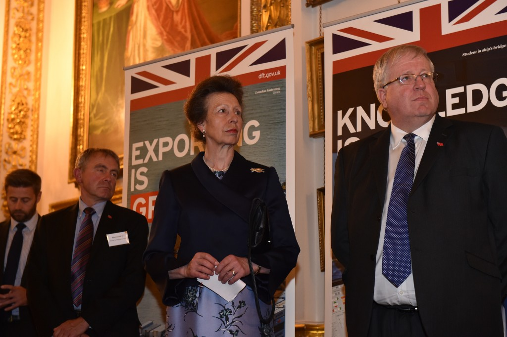 HRH Princess Anne, LISW Patron, Robert Goodwill MP, Minister for Shipping & Ports featured to the left and Patrick McLoughlin MP to the right.
